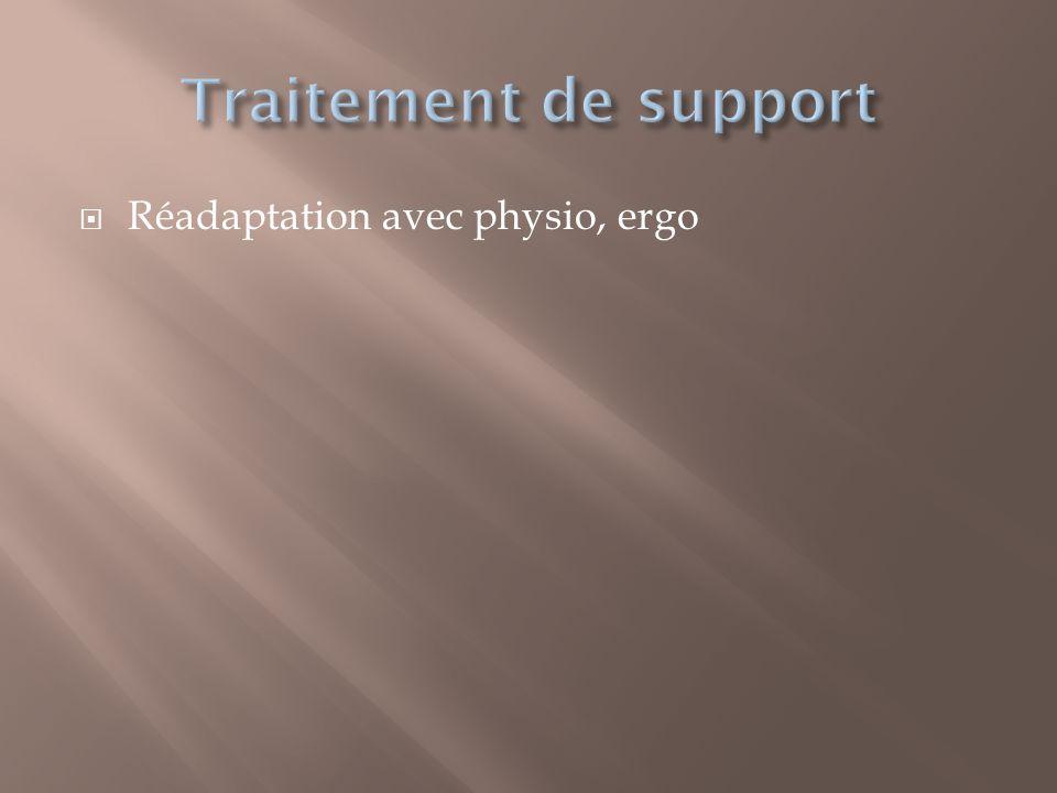 Traitement de support Réadaptation avec physio, ergo