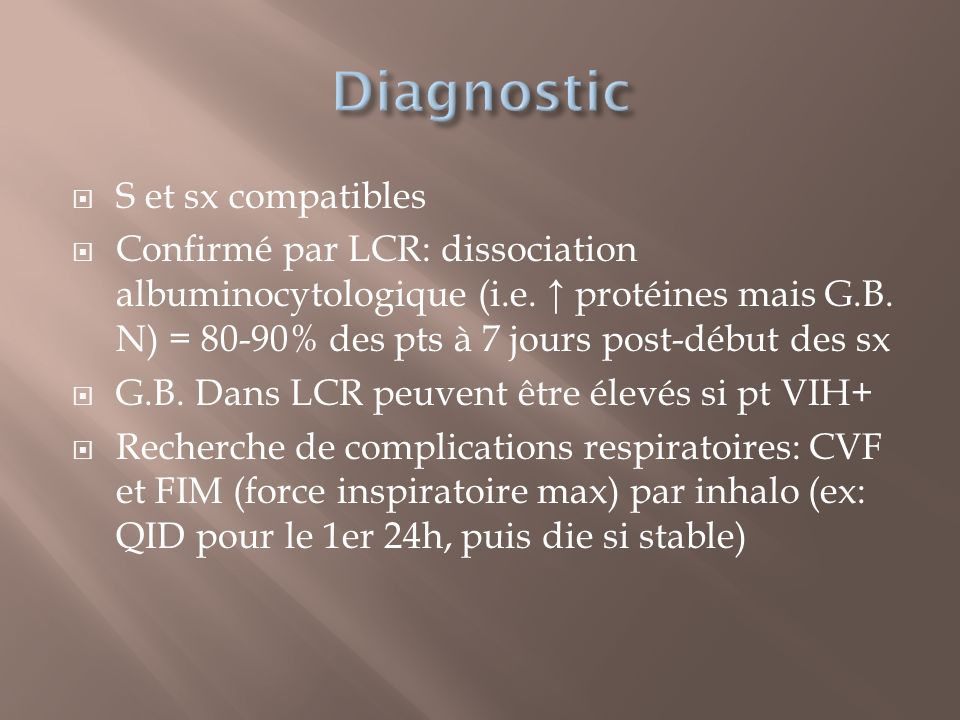 Diagnostic S et sx compatibles