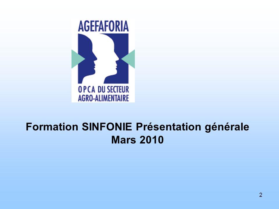 Formation SINFONIE Présentation générale Mars 2010