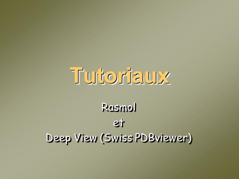 Rasmol et Deep View (Swiss PDBviewer)