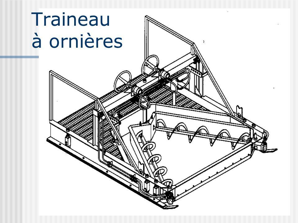 Traineau à ornières Ornière de plus de 12 mm, Largeur 5 à 6 pieds,