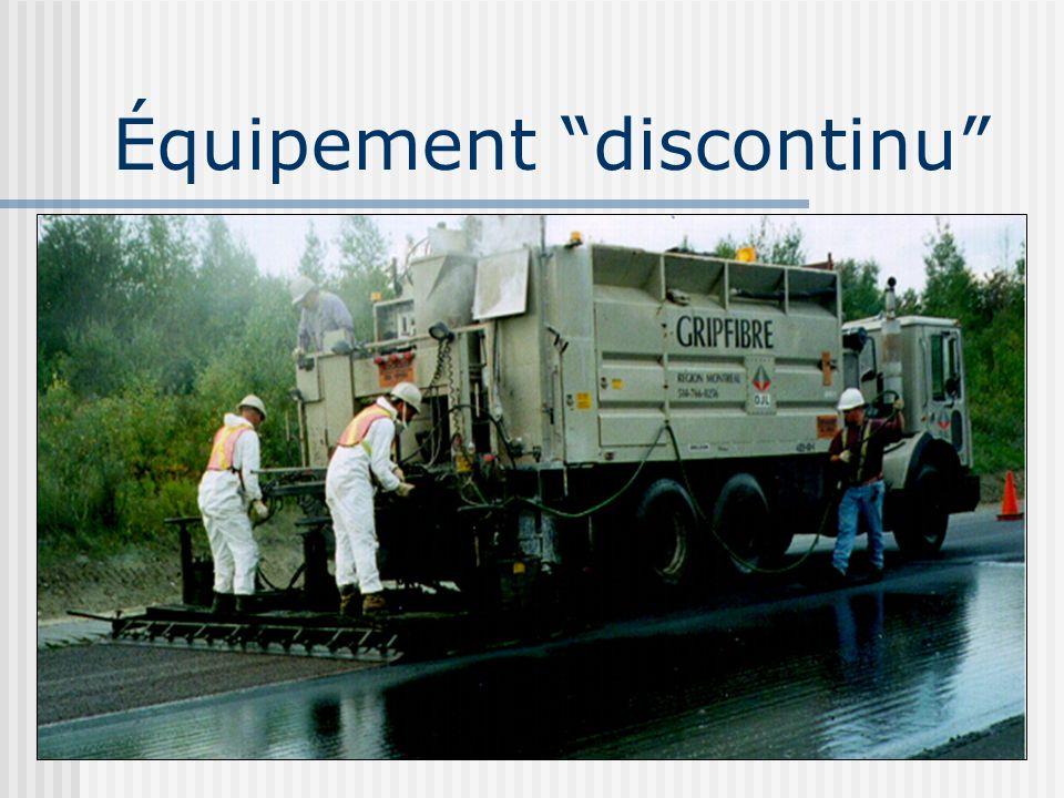 Équipement discontinu