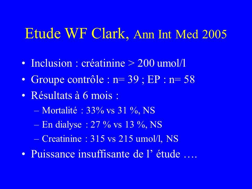 Etude WF Clark, Ann Int Med 2005