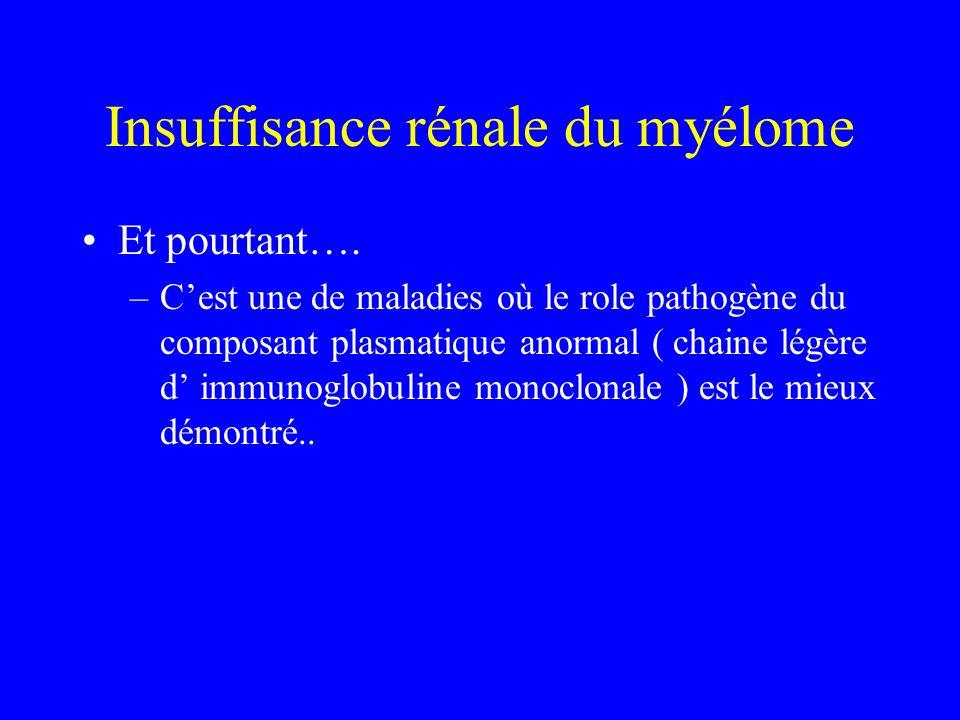 Insuffisance rénale du myélome