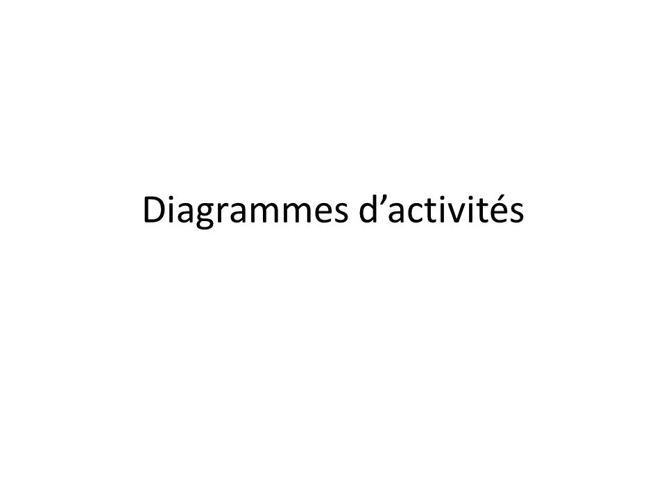 Diagrammes d'activités