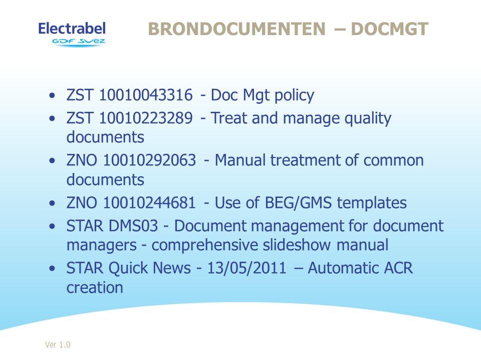 Brondocumenten – DocMgt
