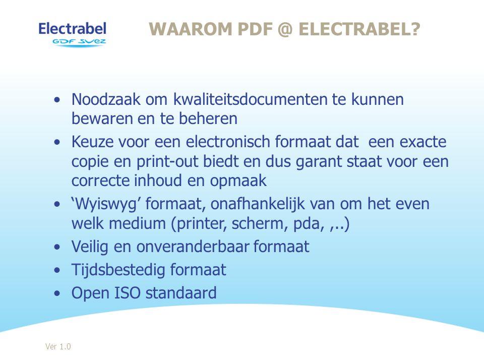 Waarom PDF @ Electrabel