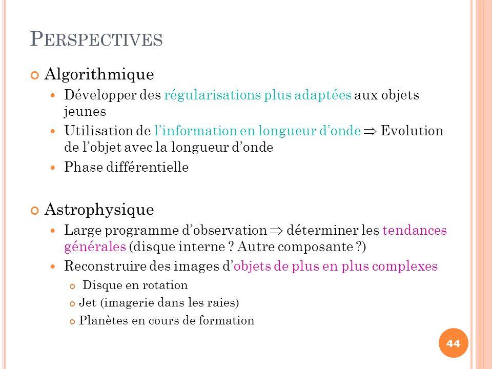 Perspectives Algorithmique Astrophysique