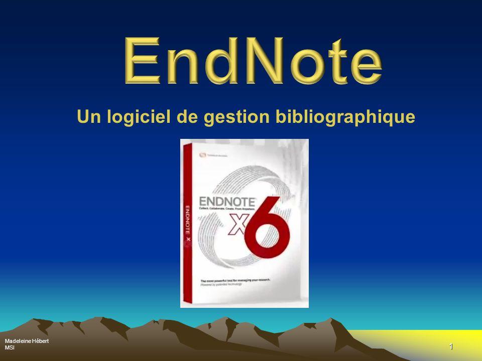 Un logiciel de gestion bibliographique
