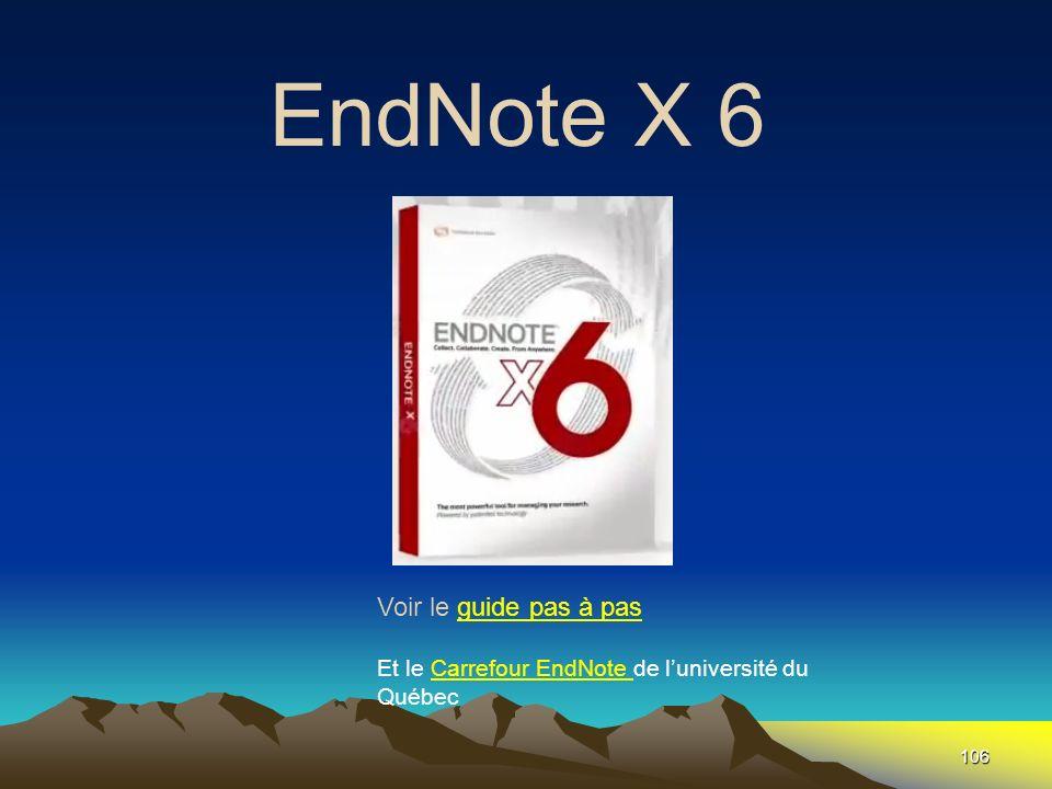 EndNote X 6 Fin Voir le guide pas à pas