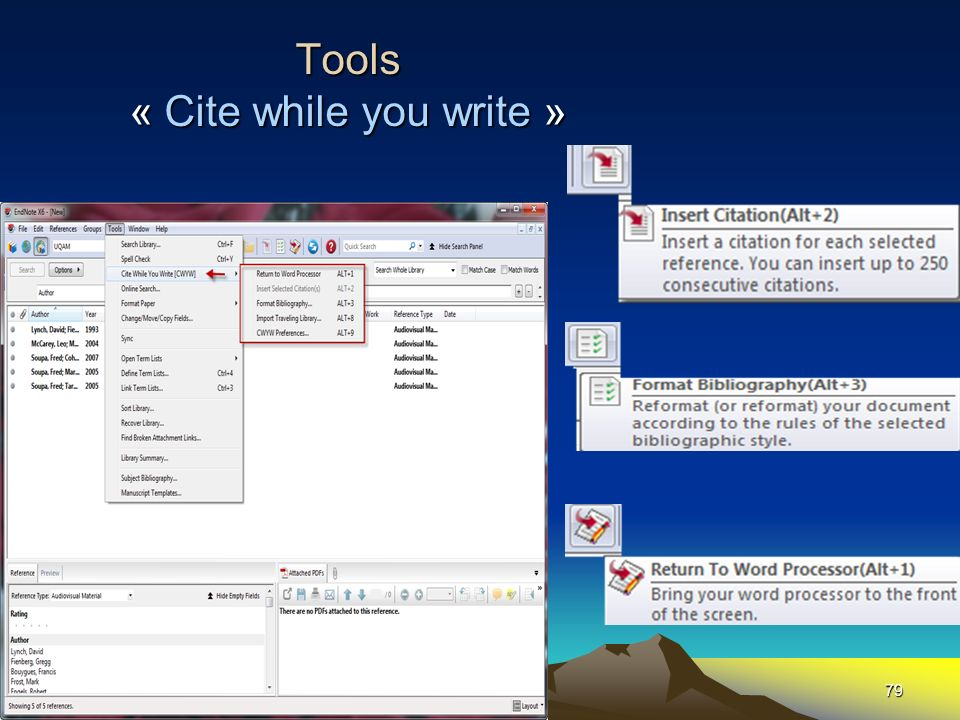 Tools « Cite while you write »