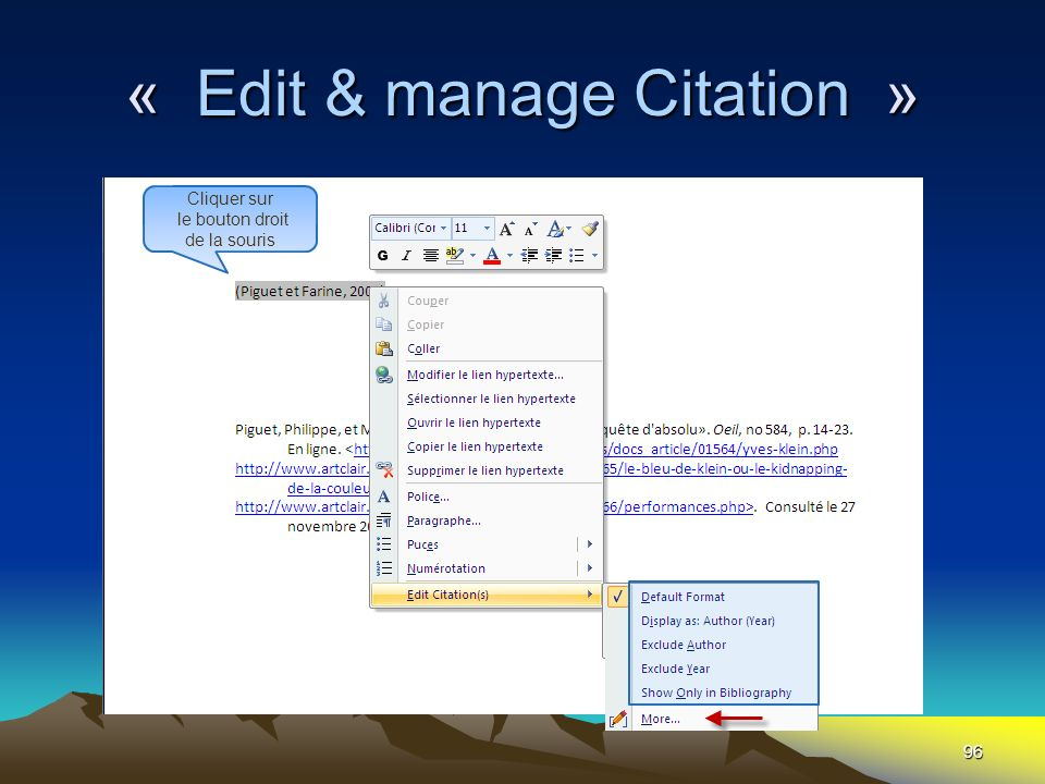 « Edit & manage Citation »