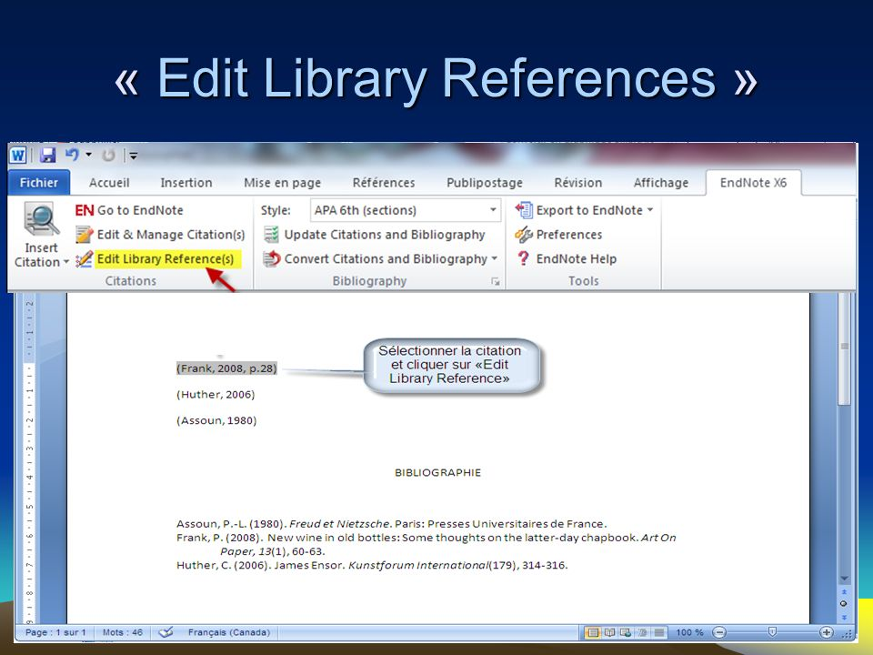 « Edit Library References »