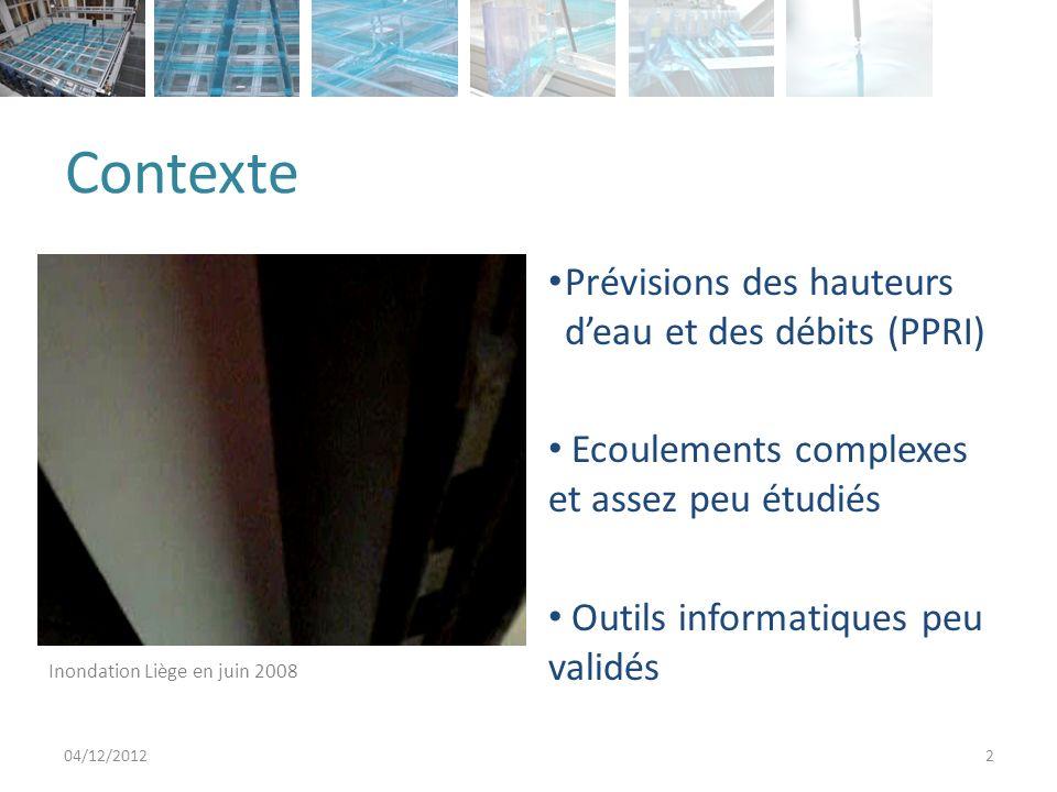 Contexte Prévisions des hauteurs d'eau et des débits (PPRI)