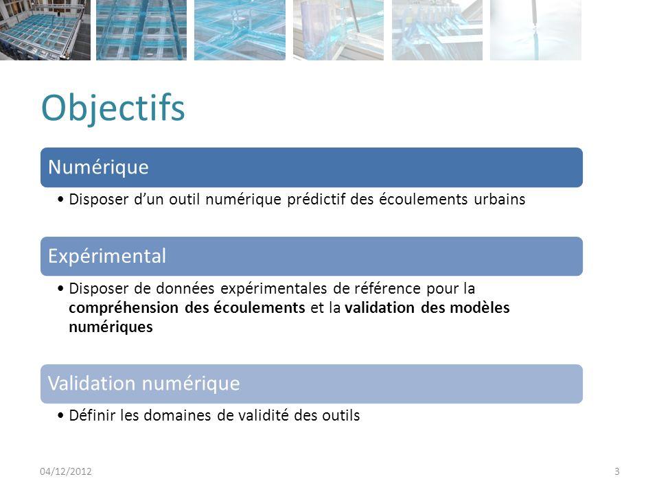 Objectifs Numérique Expérimental Validation numérique
