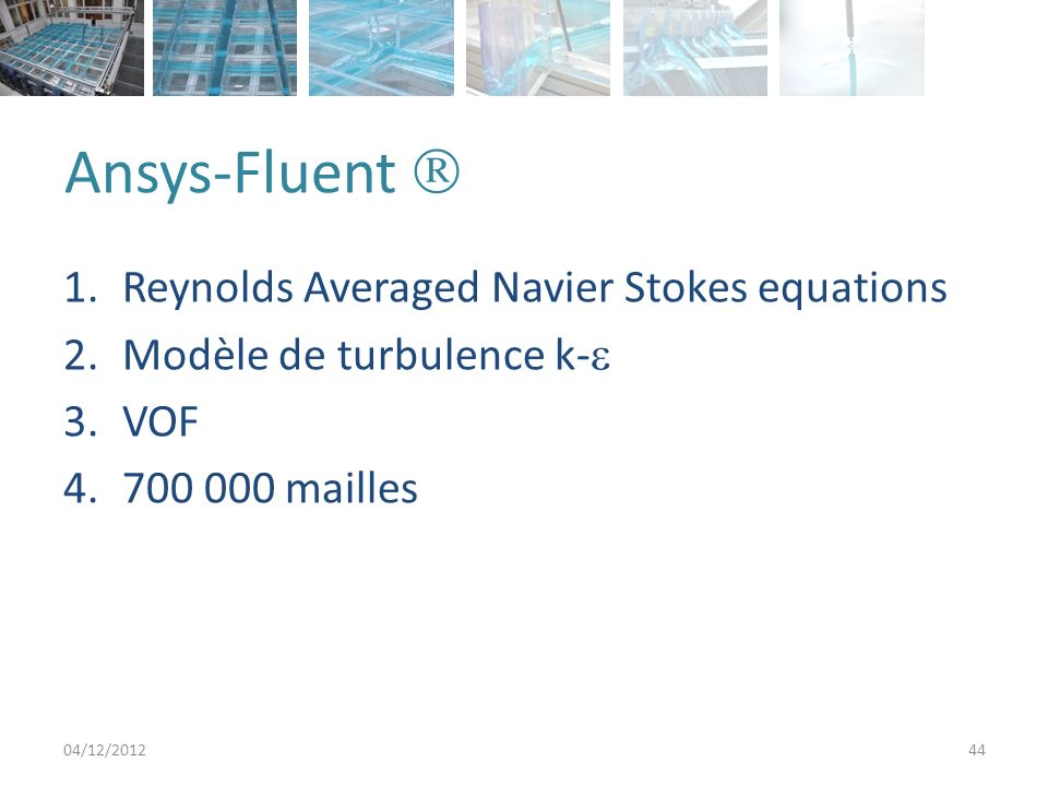 Ansys-Fluent  Reynolds Averaged Navier Stokes equations