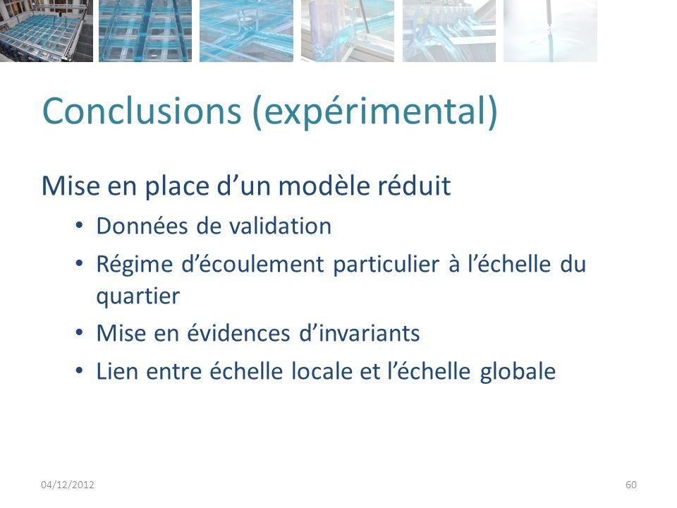 Conclusions (expérimental)