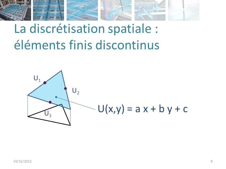La discrétisation spatiale : éléments finis discontinus
