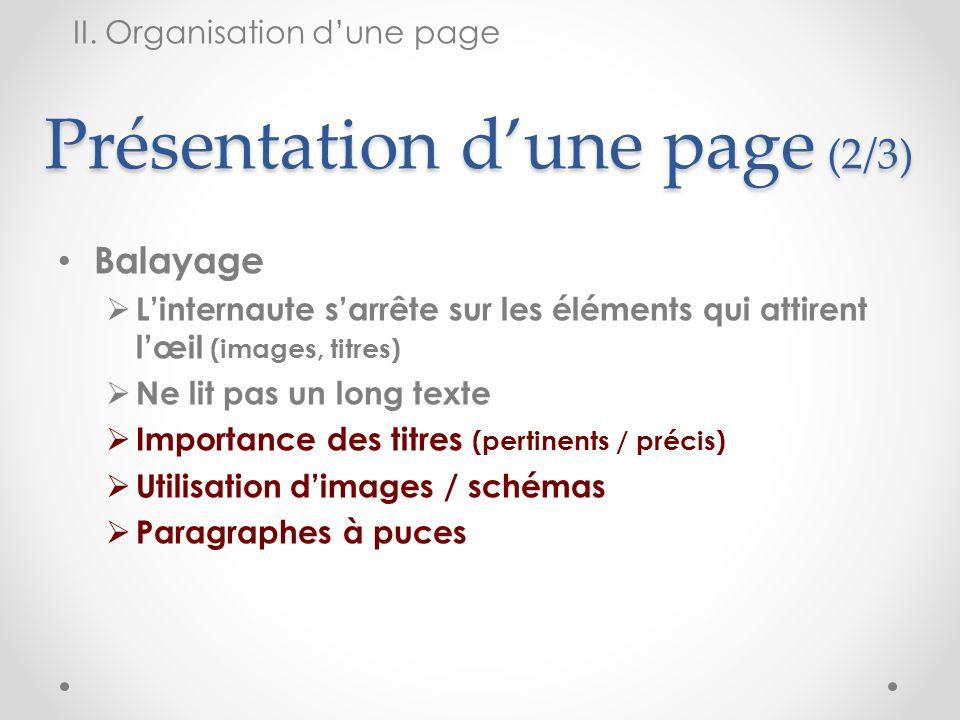 Présentation d'une page (2/3)