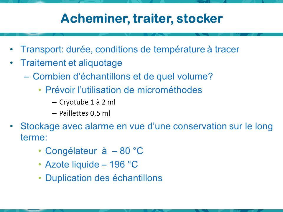 Acheminer, traiter, stocker