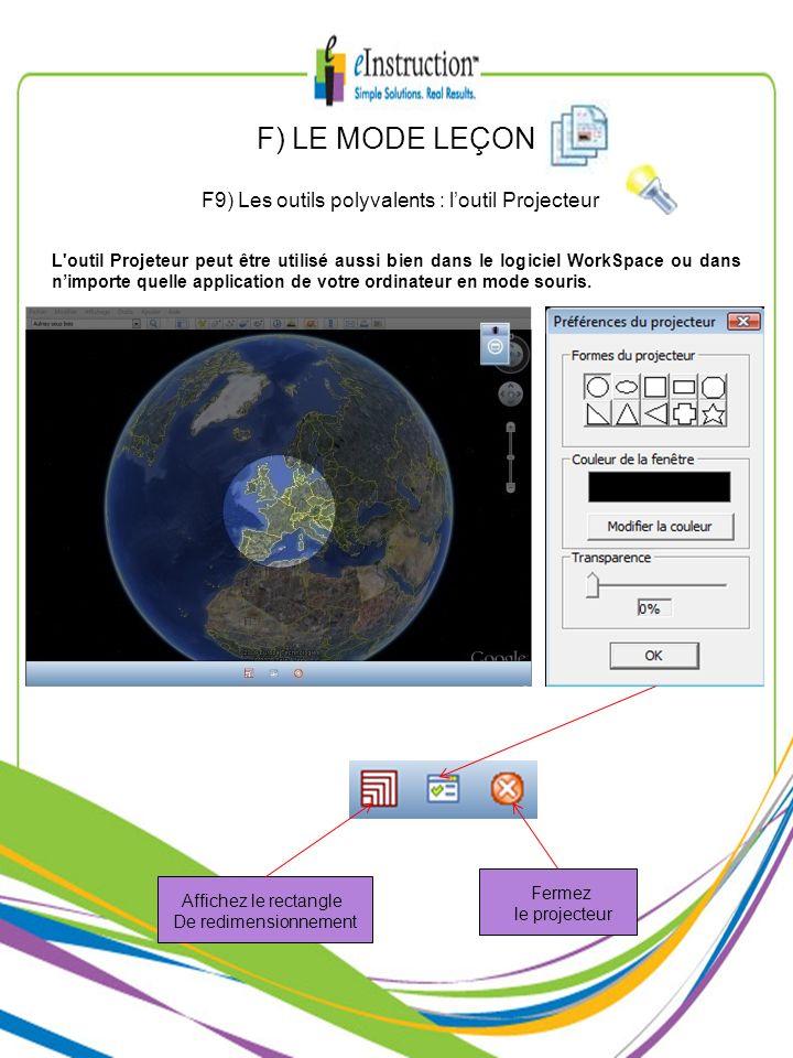 F9) Les outils polyvalents : l'outil Projecteur