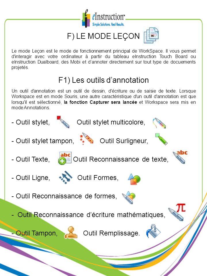 F1) Les outils d'annotation