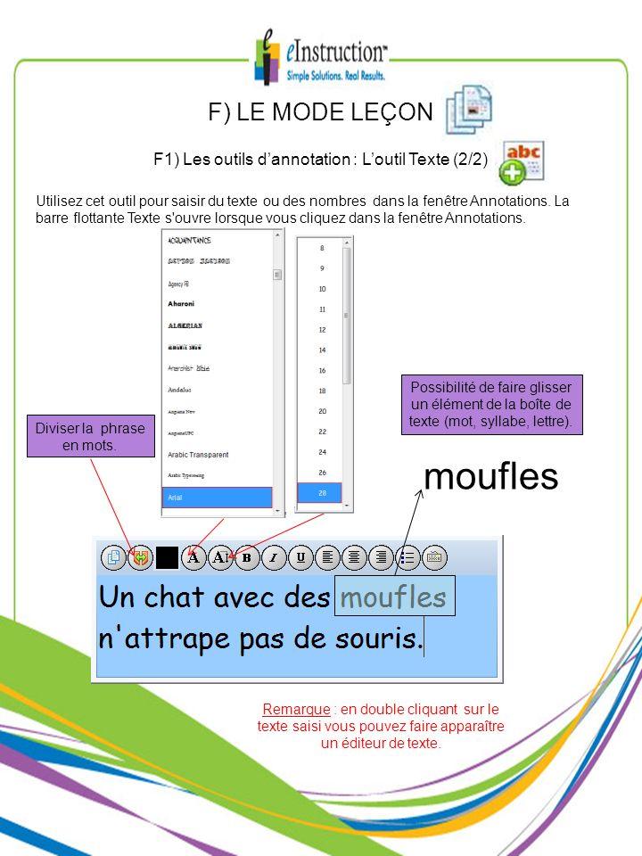 moufles F) LE MODE LEÇON