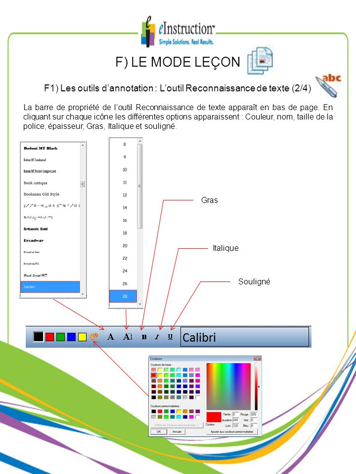 F1) Les outils d'annotation : L'outil Reconnaissance de texte (2/4)
