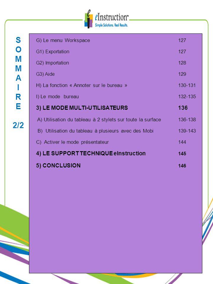 S O M A I R E 2/2 3) LE MODE MULTI-UTILISATEURS 136