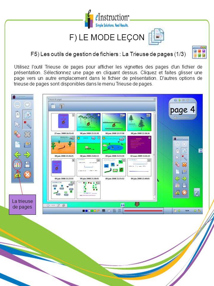 F5) Les outils de gestion de fichiers : La Trieuse de pages (1/3)