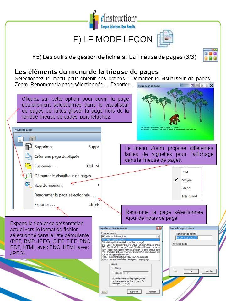 F5) Les outils de gestion de fichiers : La Trieuse de pages (3/3)