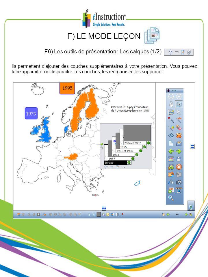 F) LE MODE LEÇON F6) Les outils de présentation : Les calques (1/2)
