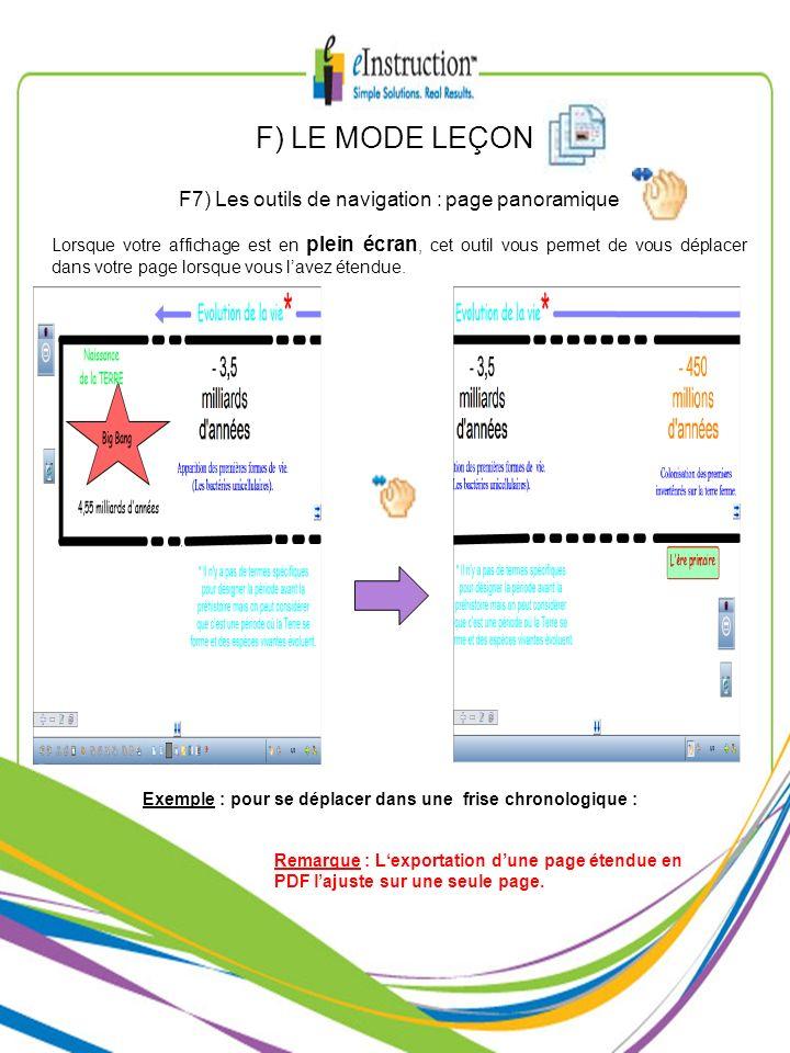 F7) Les outils de navigation : page panoramique