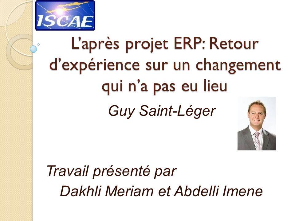 Guy Saint-Léger Travail présenté par Dakhli Meriam et Abdelli Imene