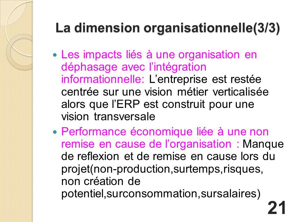 La dimension organisationnelle(3/3)