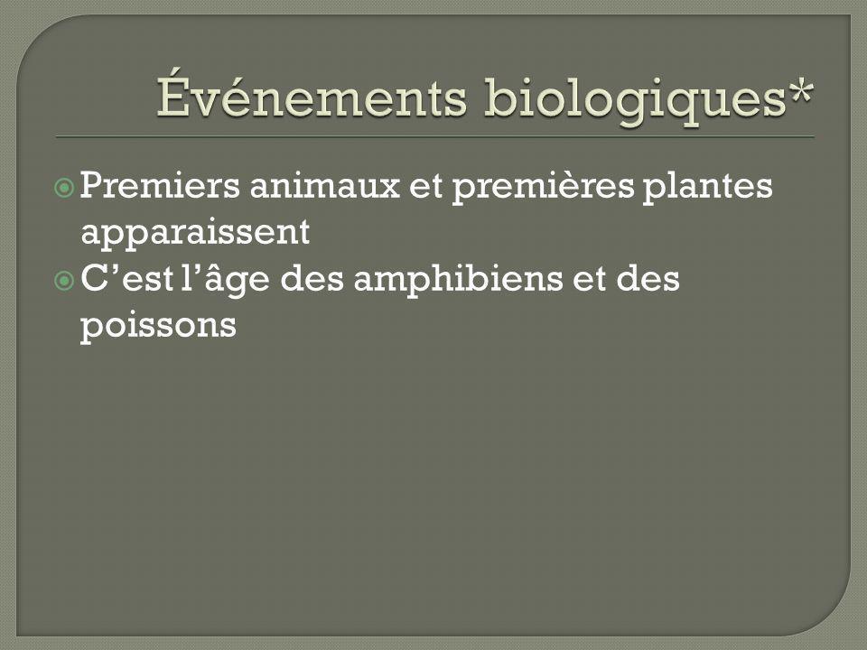 Événements biologiques*