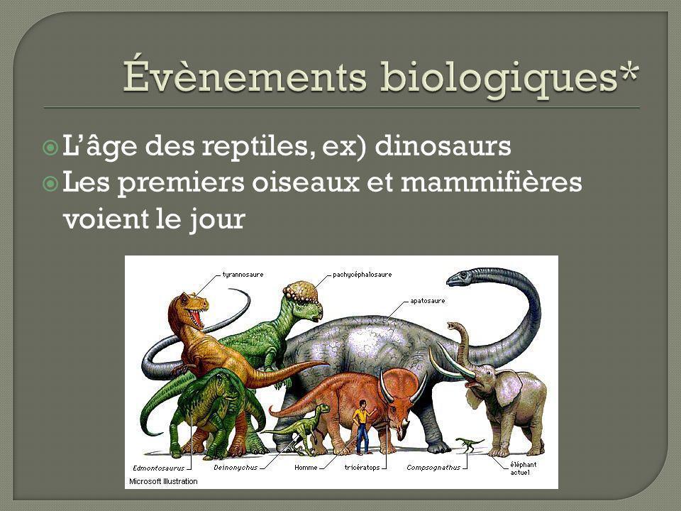 Évènements biologiques*