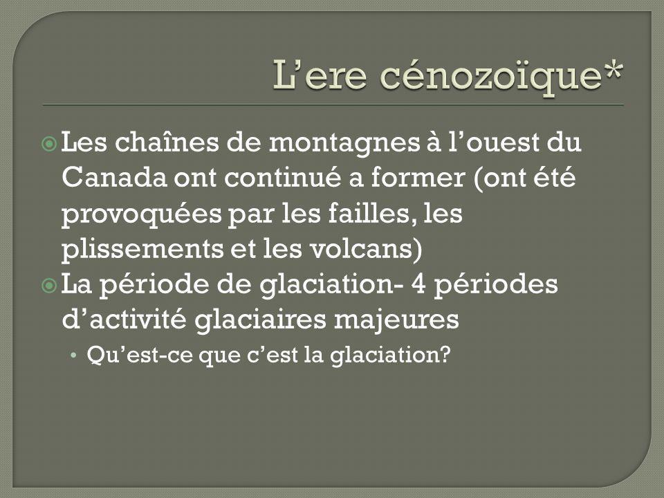L'ere cénozoïque*