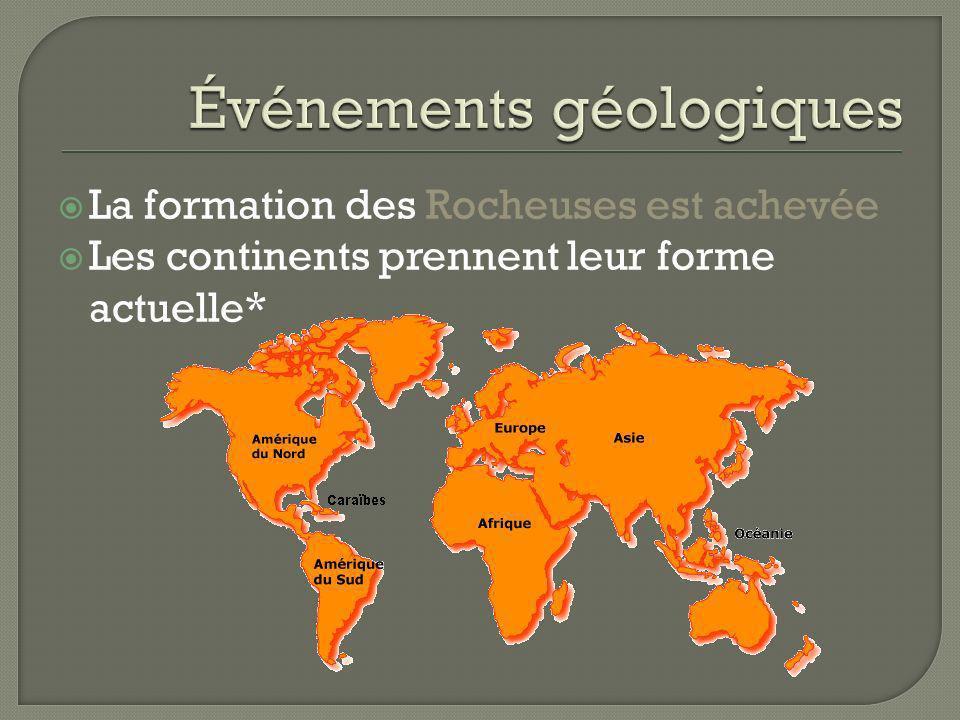 Événements géologiques