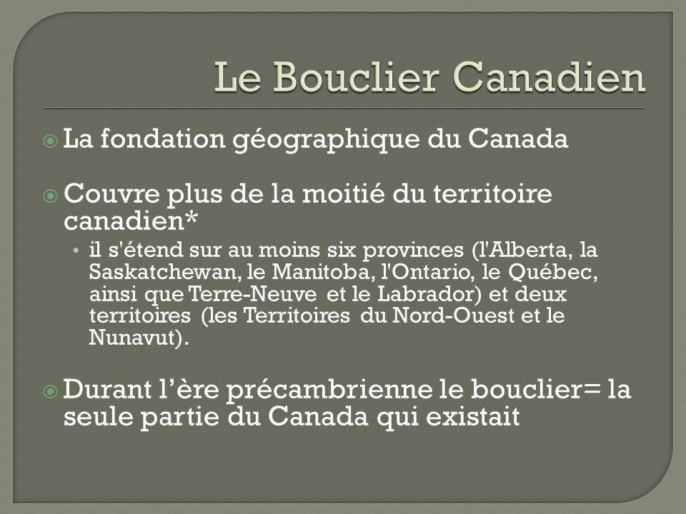Le Bouclier Canadien La fondation géographique du Canada