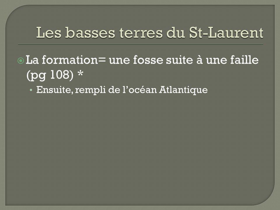 Les basses terres du St-Laurent