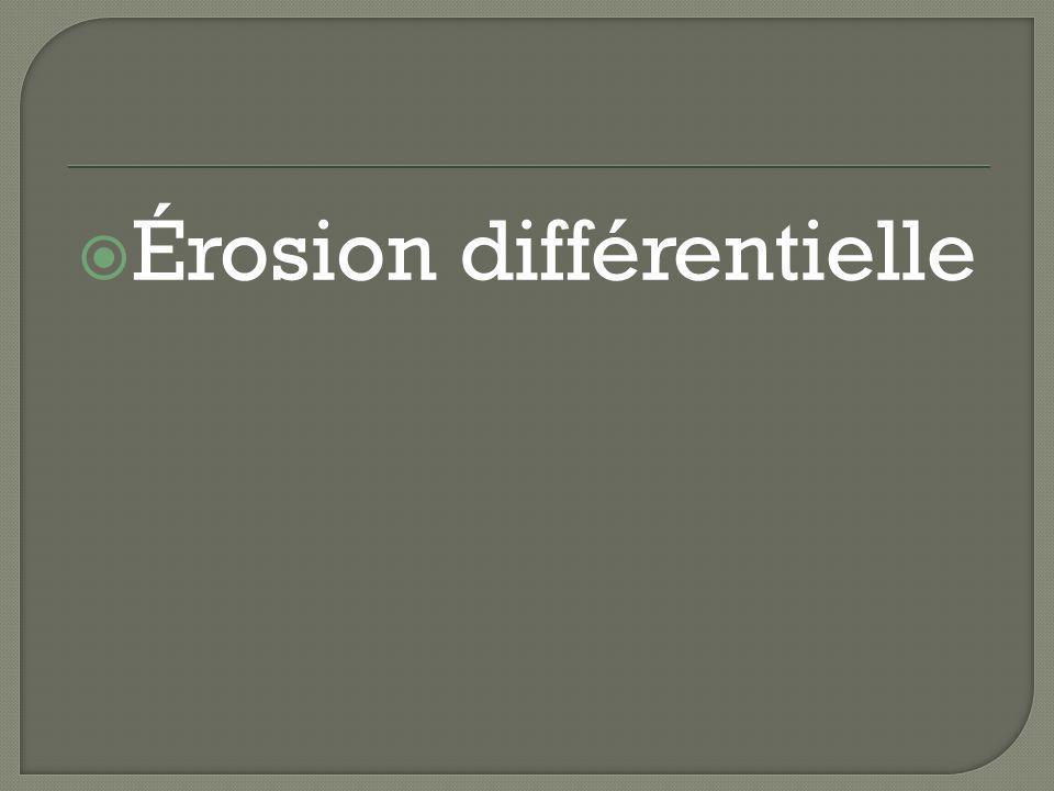 Érosion différentielle