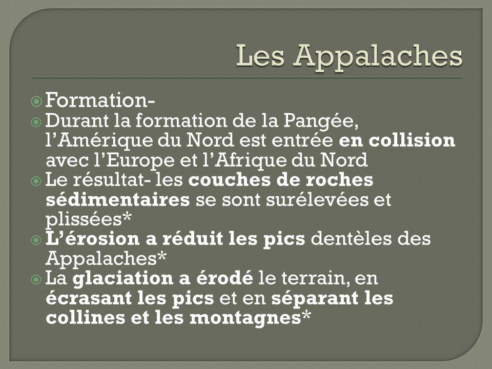 Les Appalaches Formation-