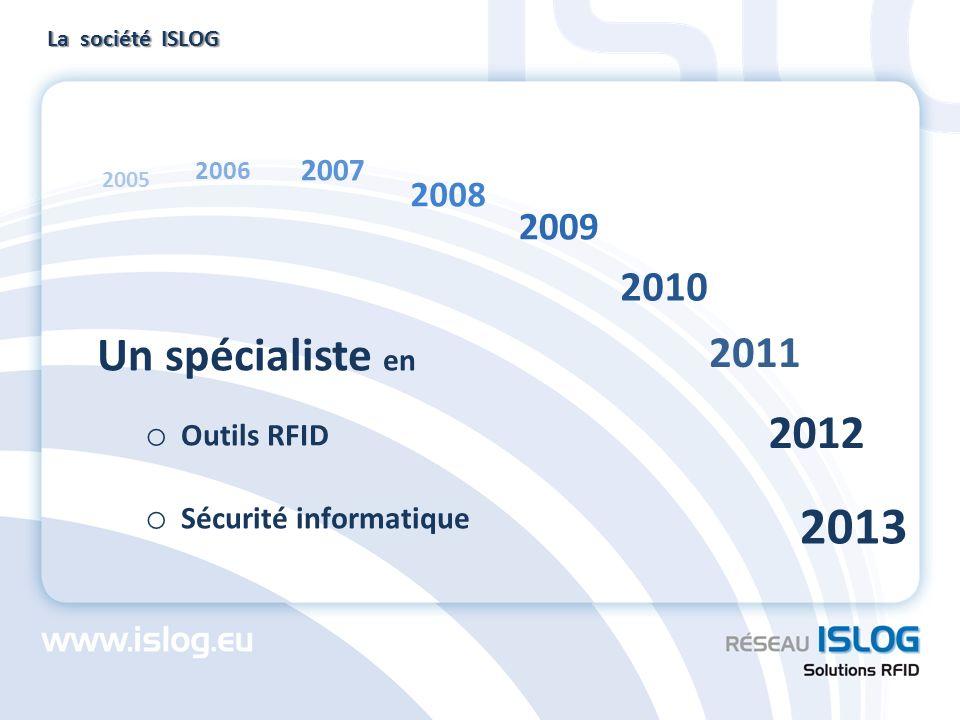 2013 Un spécialiste en 2012 2011 2010 2009 2008 2007 Outils RFID