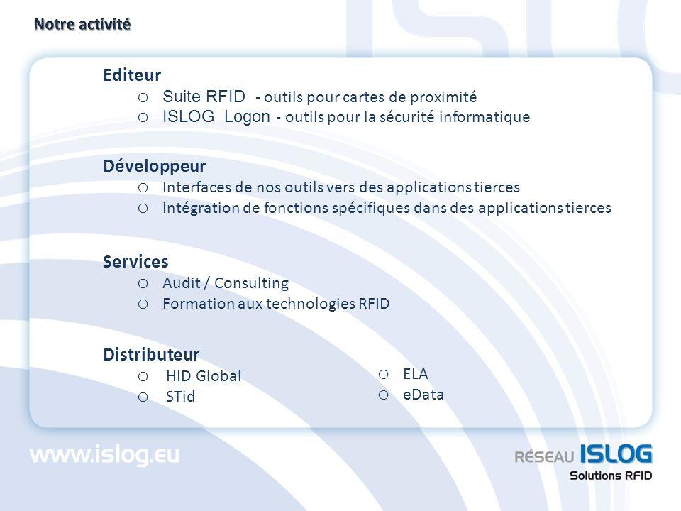Editeur Développeur Services Distributeur Notre activité