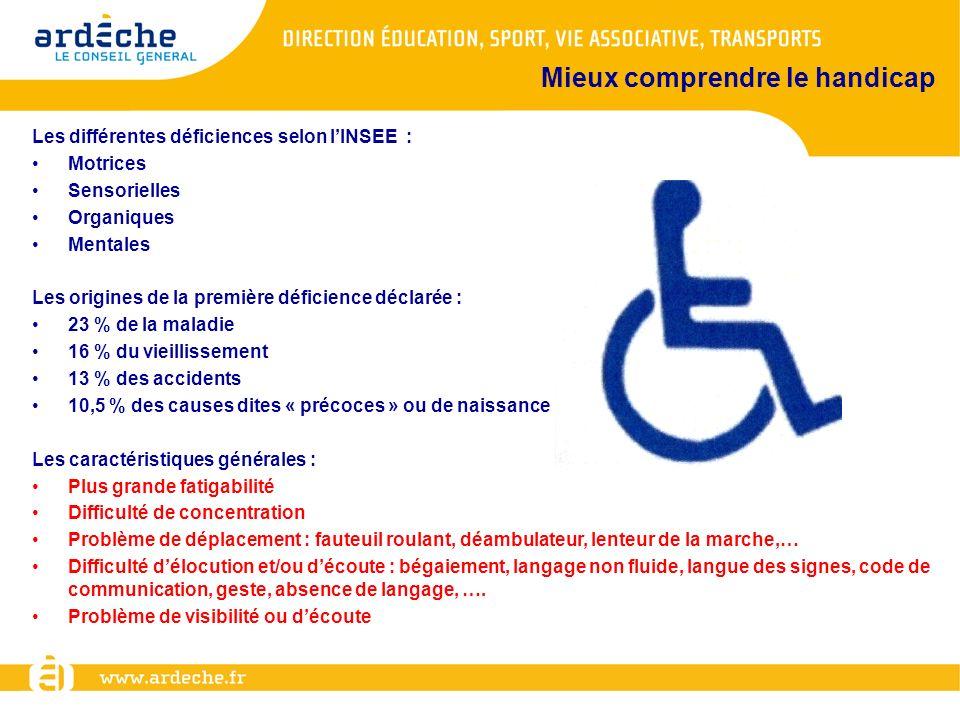 Mieux comprendre le handicap
