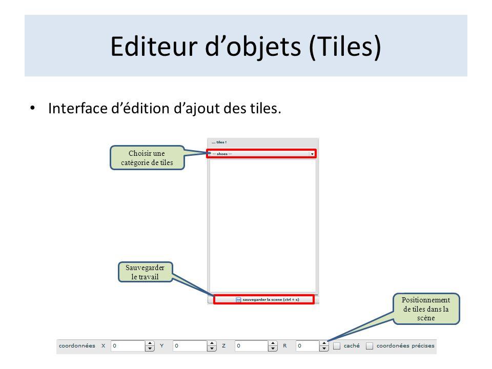 Editeur d'objets (Tiles)