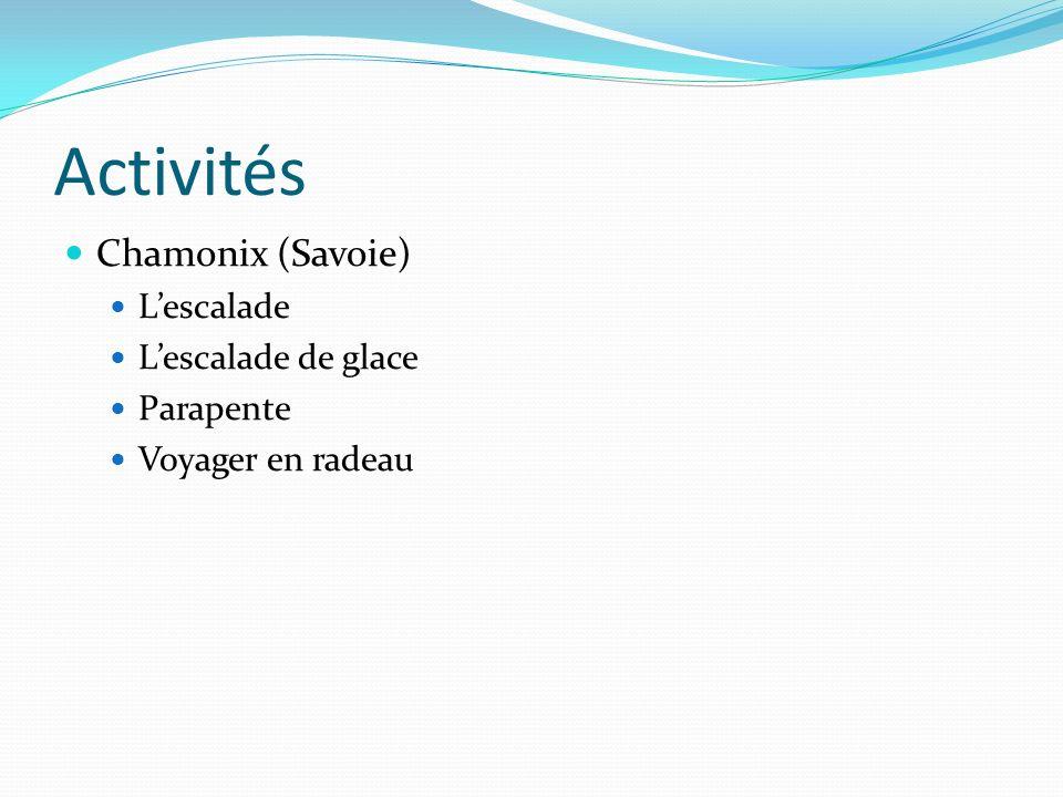 Activités Chamonix (Savoie) L'escalade L'escalade de glace Parapente