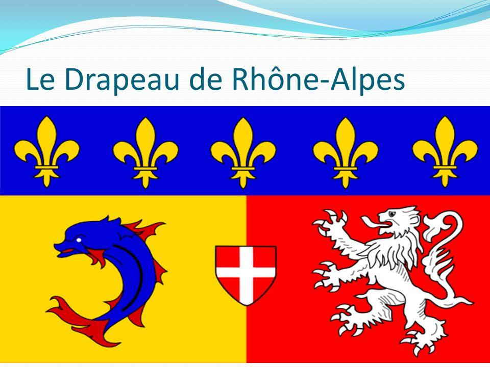 Le Drapeau de Rhône-Alpes