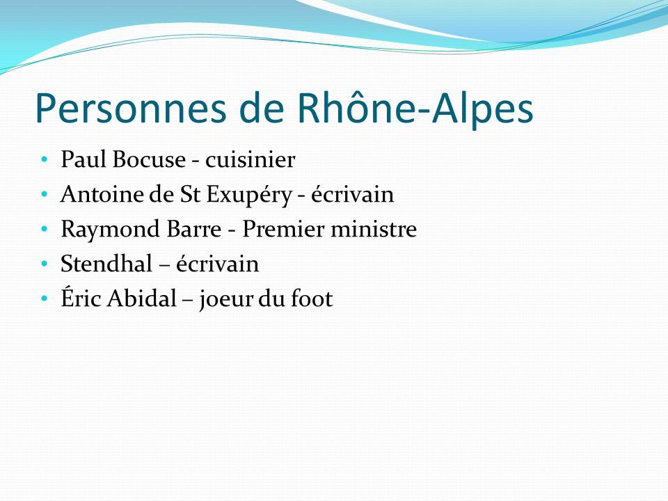 Personnes de Rhône-Alpes